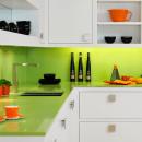 apple green quartz kitchen sink detail