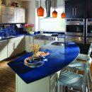 Blue starlight quartz kitchen