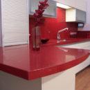 Red Starlight Quartz kitchen