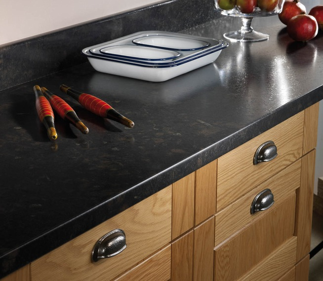 Black Laminate worktop 2